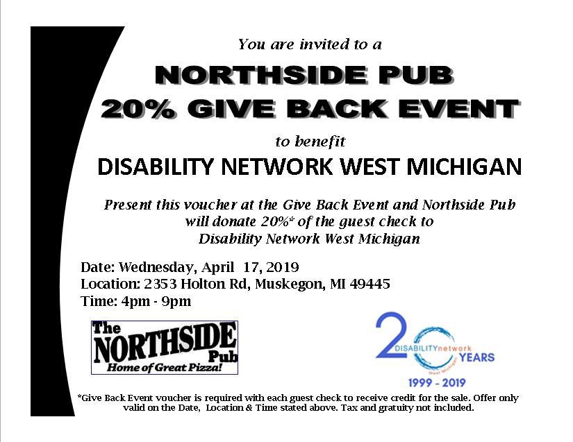 Northside Pub 20% Give Back Printable Voucher